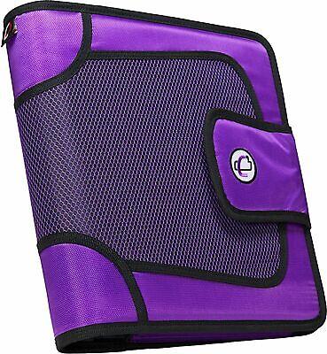 The Open Tab 3-ring Binder 2 Capacity Adjust Velcro 5 Color Tabs Purple