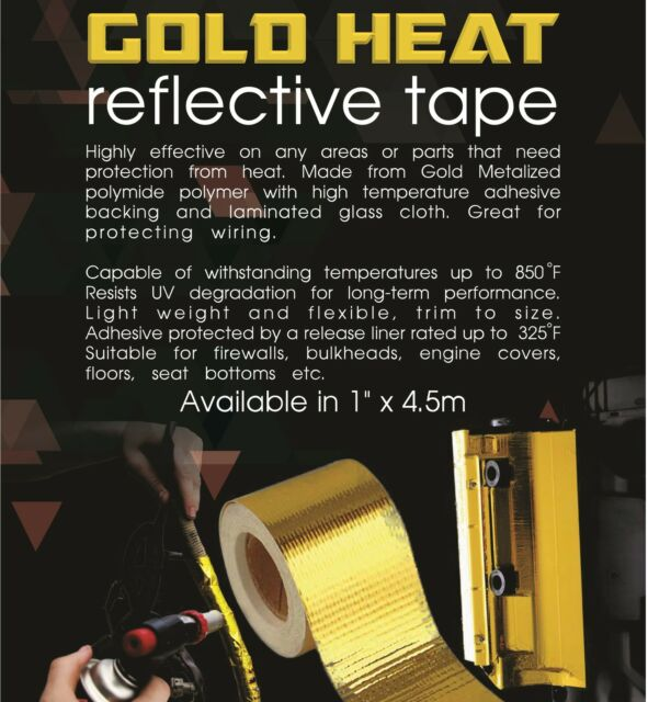 """TOG 450 DEGREE GOLD HEAT COOL REFLECTIVE TAPE 1"""" X 4.5M FOR TOYOTA LANDCRUISER"""