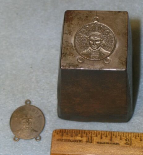 Antique KNIGHTS OF COLUMBUS Fob Badge Stamping Die * MC LILLEY