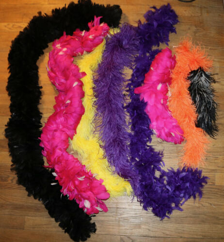 lot set assorted feather boa pieces