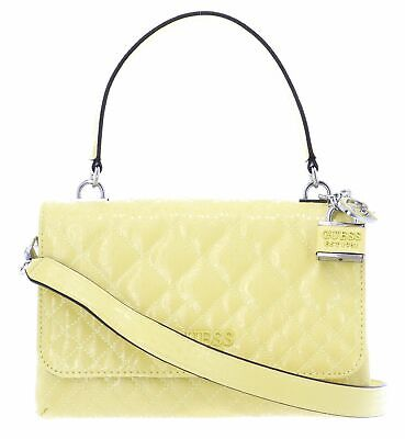 GUESS bolso Queenie Top Handle Flap Yellow