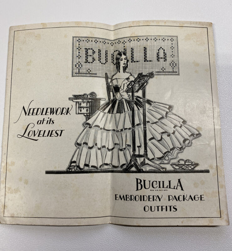 Vintage 1928 Bucilla Embroidery Package Outfits Catalog Needlework