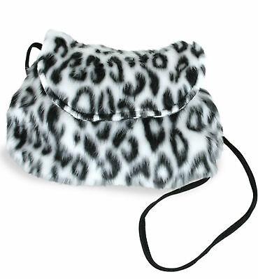 Kostüm Plüschtasche Wildkatze Leopard schwarz/weiße Tasche Karneval Fasching (Katze Schwarz Plüsch Kostüm)