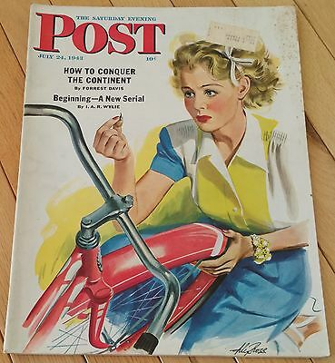Conquer Powder (SATURDAY EVENING POST JULY 24 1943 VANDERGRIFT POWDER MAN CONQUER THE CONTINENT )