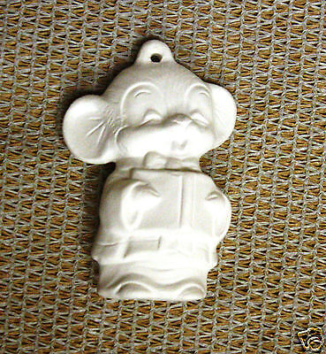 Ceramic Bisque Christmas Ornament Boy Choir Mouse Alberta 228 Ready To Paint
