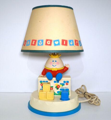 Vintage Fisher Price Lamp Humpty Dumpty Nursery Lamp Musical Fisher Price 1985