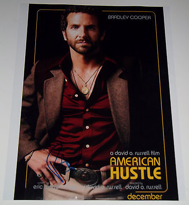 Bradley Cooper Signed 11X14 Photo Of American Hustle Movie Poster Richie Dimaso