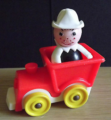 Vintage Fisher Price Train Locomotive and 1 Little Person