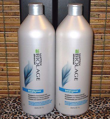 Biolage Keratindose Shampoo and Conditioner 33.8 oz Liter Set Duo Pack Matrix