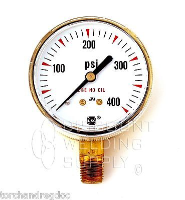 2-12 Usg Ametek Welding Gauge 400 Lbs. Acetylene Regulator Us-027