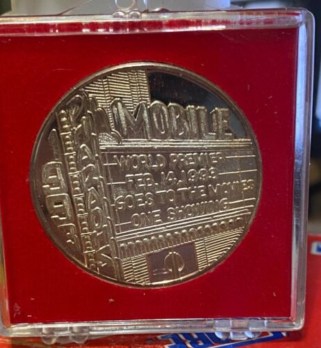 PHARAOHS 1993~.999 Silver Mardi Gras Doubloon~ Mobile Goes to the Movies