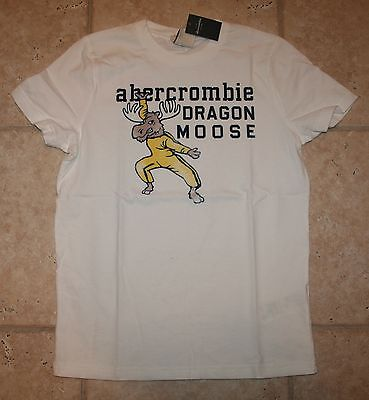 Abercrombie Boys Medium Ss Dragon Moose Muscle Fit T-shirt