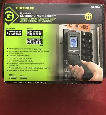 Greenlee Cs-8000 Circuit Seeker Circuit Tracer Breaker Finder Cs8000