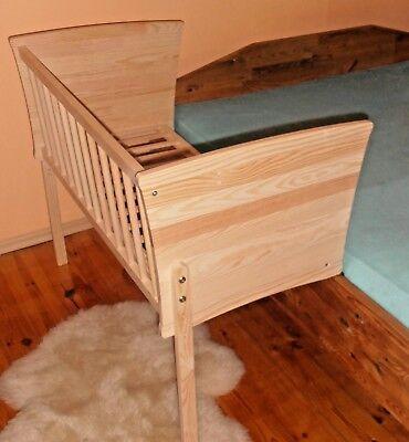 Beistellbett Babybett Gitterbett Massivholz-NATURBELASSEN Schadstofffrei