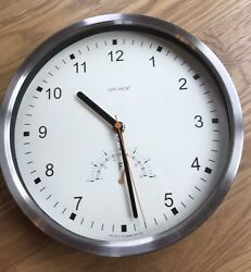 Verichron Quartz Battery Operated Brushed Aluminum Wall Clock Made in China 10""
