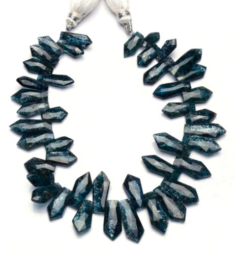 """Green Imperial Kyanite Gem 12x6 to 16x7mm Size Faceted Fancy Shape Beads 8"""""""