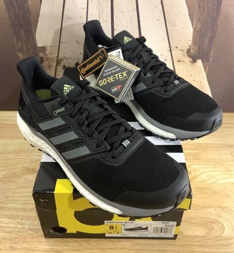 Adidas Supernova Gore Tex Running Shoes Black/Grey GTX B9628