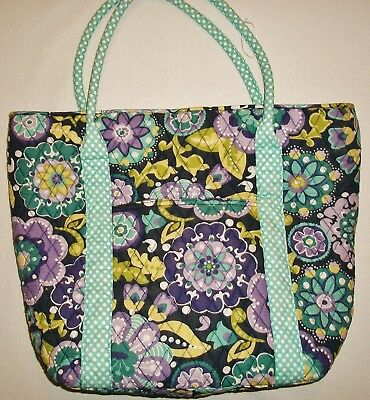 Pottery Barn Teen PB Teen Large Tote Bag Quilted Cotton Multi-Color Floral