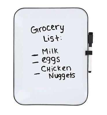 Dry Erase Board With 3-color Marker Set - Magnetic Whiteboard 8.5 X 11 Inches