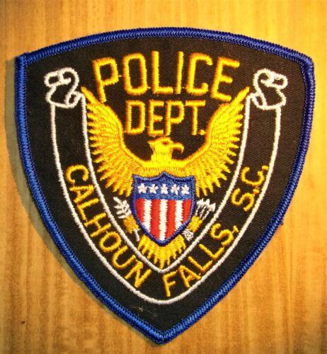 GEMSCO NOS Vintage Collectible Patch POLICE CALHOUN FALLS SC - Original 45+