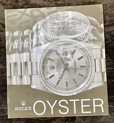 ROLEX Vintage Price List 1992 Daytona Zenith 16520 GMT 16700 Sea Dweller 16600