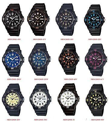 - Casio MRW200H Series Men's black Rubber Strap Day Date Analog Sports Watch