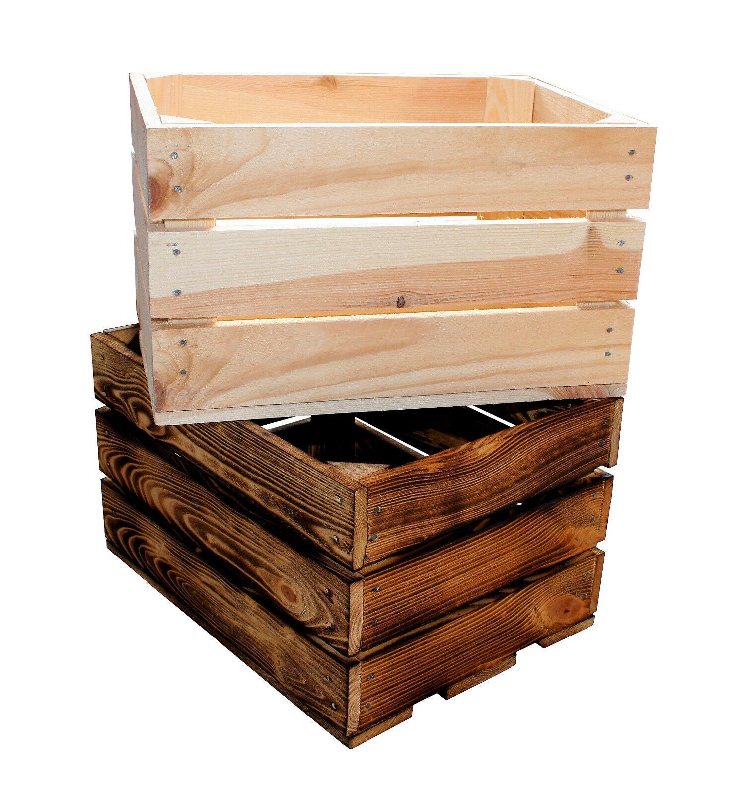 1 Stück NEUE Holzkisten Obstkisten Apfelkisten Weinkiste 40x30x23,5 cm TOP