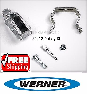 New Werner Replacement Pulley Kit 31-12 - Parts For Werner Extension Ladder