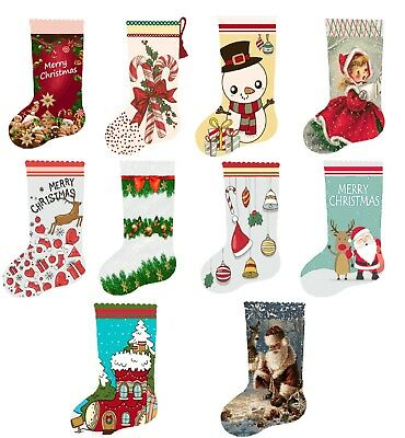 Christmas Tree Santa Ornament Cross Stitch Kit Pattern PDF Count Chart stocking