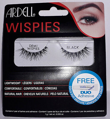 Ardell Demi Wispies Black Lashes (1 Pair & Adhesive)