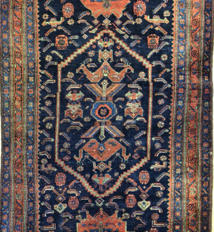 Beautiful Bijar - 1900s Antique Kurdish Runner - Persian Rug - 4.5 X 9.4 Ft.