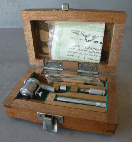 "MITUTOYO Inside Micrometer No 141-102 IMS-2"" with Original Wood Box"