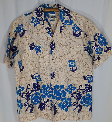 VTG Napili Hawaiian Shirt Size Large L 60s 70s Barkcloth EUC Made in Hawaii