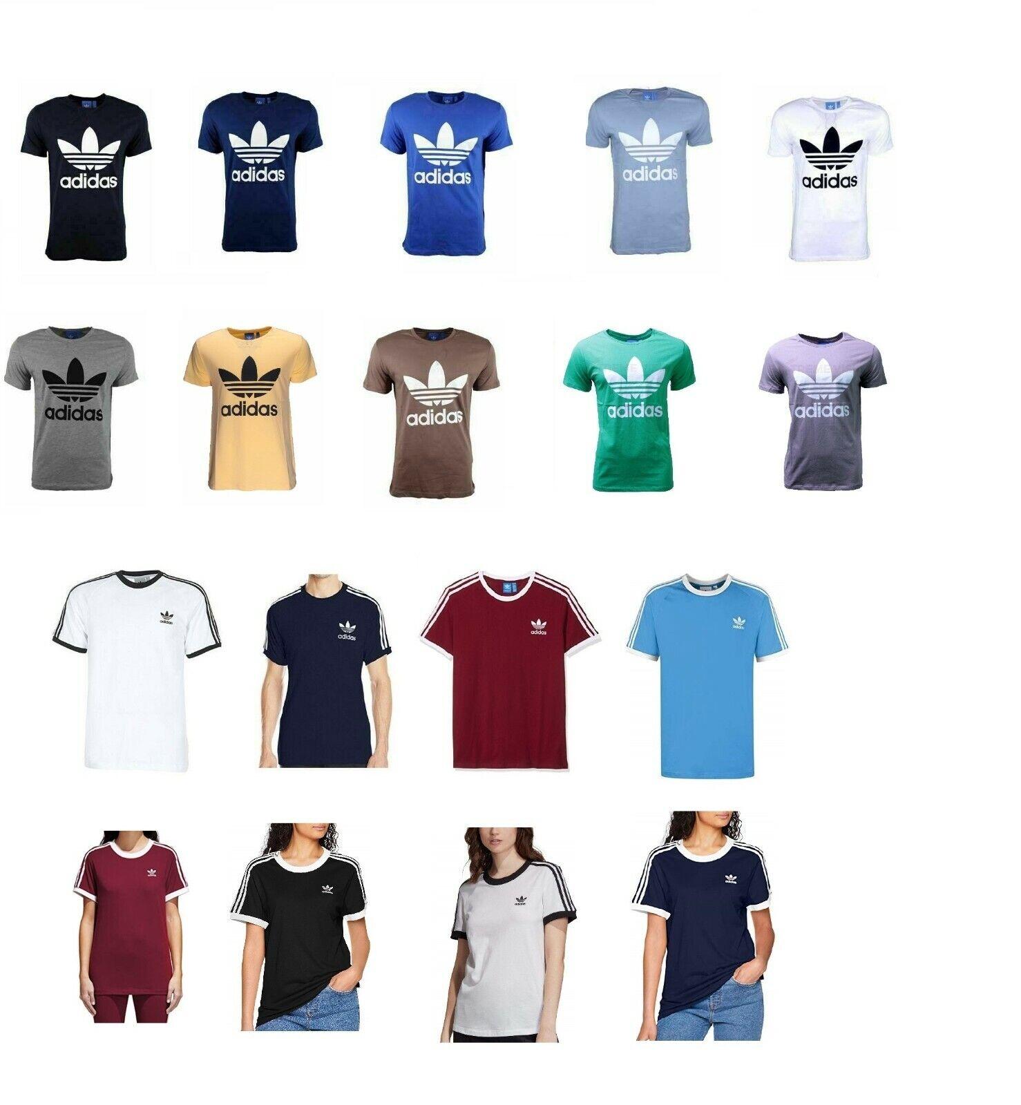 Adidas T-Shirt Trefoil 3-Stripes Damen & Herren 3 Streifen T Shirt S M L XL XXL