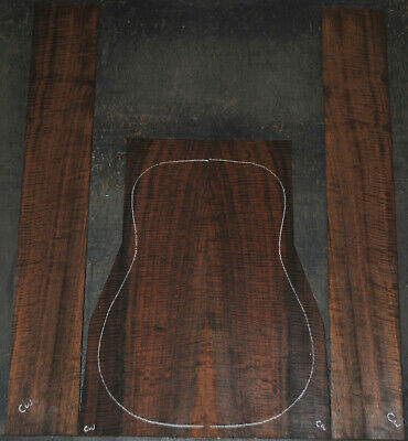 Fiddleback Claro Walnut Acoustic Guitar Back And Side Sets
