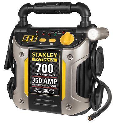 Stanley Portable Jump Starter Battery Power Car Jumper Box 700 Amp 350 Peak New