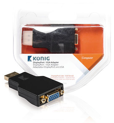 König DisplayPort-VGA-Adapter, DisplayPort-Stecker– VGA Wandler Screen Übergang (Displayport-vga-adapter)