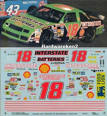 NASCAR DECAL #18 INTERSTATE BATTERIES 1994 LUMINA DALE JARRETT SLIXX