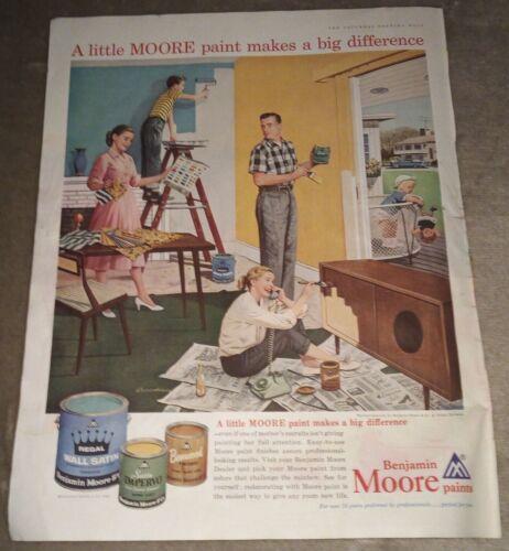 "Very Rare 1960 Benjamin Moore Paint Magazine Ad 10.5"" x 13.5"""