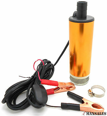 12v Submersible Diesel Fuel Water Oil Transfer Drum Pump 8gpm Mini Refueling Sub