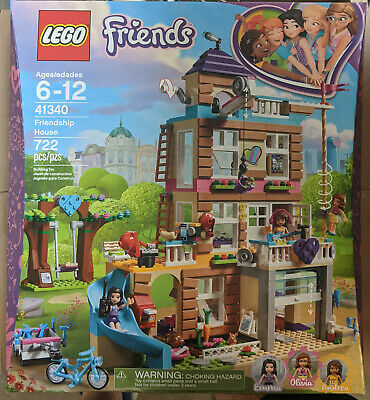 Lego 41340 Friends NEW Friendship House Emma Olivia Andrea 722 Pieces ~DMG BOX~