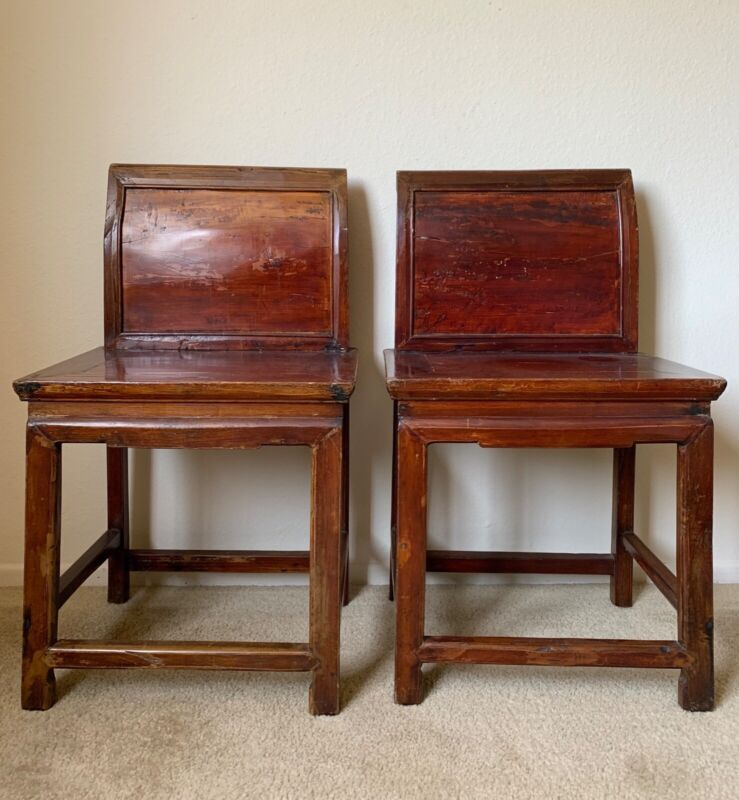 Pair of Antique Chinese Wooden Chairs