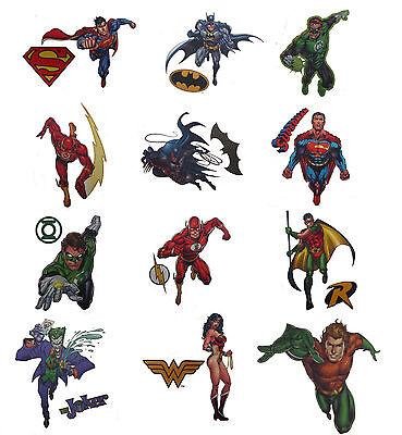 DC Comics Superhero Temporary Tattoos Batman Superman Green Lantern Wonder