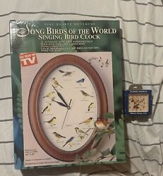 Vintage Song Birds of the World Singing Bird Clock Different Song Every Hour