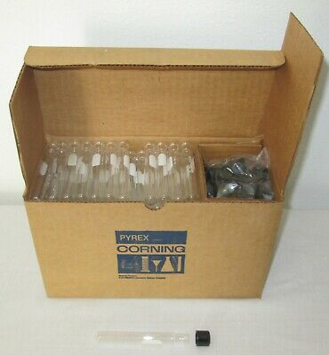 Corning Pyrex 9825-13 Screw Cap Culture 9825 Tubes Caps 13x100 Mm - 144 Sets
