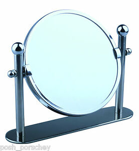 free standing bathroom mirror swivel chrome magnifying free standing pedestal cosmetic 18423