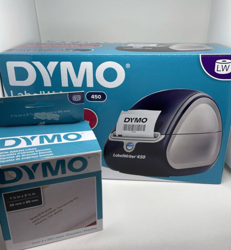 DYMO Label Writer Pre Owned Comes With Two Address Labels. Read Description.