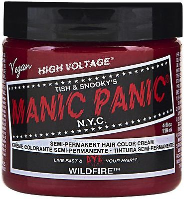 Manic Panic Semi-Permanent Hair Color Cream, Wildfire 4 oz (Pack of 7)