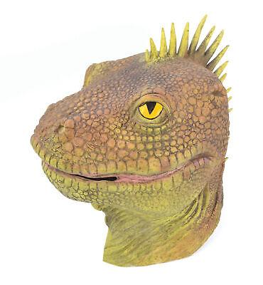 Lagarto Dinosaurio Máscara Adulto Completa Látex Disfraz Reptiles Cabeza Nuevo