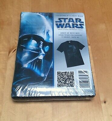 Vintage STAR WARS Darth Vader Best Buy Exclusive DVD Promo T-shirt Shirt tee